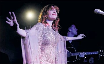 """?? By Chris Pizzello, AP ?? """"Unbelievable"""": Florence Welch and her band The Machine will play Elton John's annual Oscar night gala Feb. 27."""