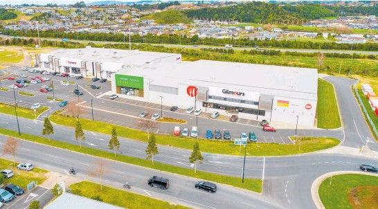 ??  ?? The retail complex is located on a 2.5ha site in the Tauranga suburb of Tauriko and is part of the largest and newest shopping centre in the Bay of Plenty.