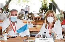 ?? PART. ?? Gobernadores Roberto Jaramillo y Clara Luz Roldán, en el Meta.