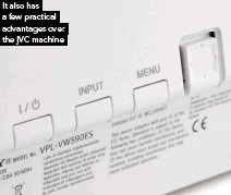 ??  ?? It also has a few practical advantages over the JVC machine