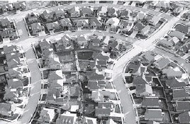 ?? RICK BOWMER/AP 2019 ?? A survey shows millions say they fear being evicted or having their homes foreclosed upon in the next two months. Above, homes near Salt Lake City.
