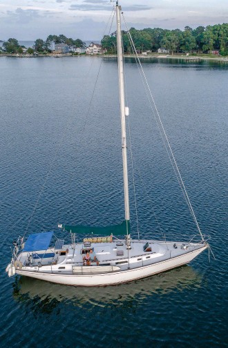 ??  ?? After acquiring both a ton of experience and offshore miles, the couple launched their own sail-training business aboard their Compass 47, Ultima.