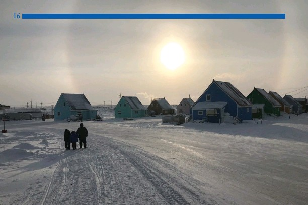 ?? Brandon Laforest/WWF Canada photo ?? The town of Taloyoak, Nunavut, where the Spence Bay Hunter and Trapper Association was awarded an Arctic Inspiration Prize for the Niqihaqut food sovereignty project.