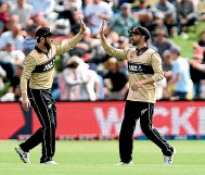 ??  ?? Kane Williamson, left, and Devon Conway have formed something of a mutual admiration society.