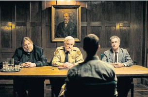 """?? TIFF PHOTOS ?? Bent Hamer's ice-cold sense of humour in """"The Middle Man"""" finds natural allies with a cast of top Canadian actors including Paul Gross, centre, and Don McKellar, right."""