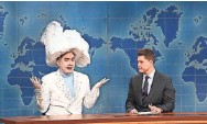 """?? PROVIDED BY WILL HEATH/NBC ?? Bowen Yang plays The Iceberg That Sank The Titanic on """"Saturday Night Live"""" this spring."""