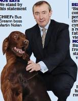 ??  ?? chiEf: Bus Éireann boss Martin Nolan