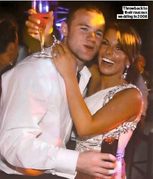 ??  ?? Throwback to their raucous wedding in 2008