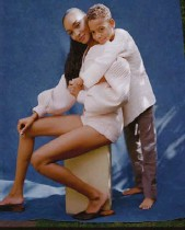 ??  ?? Left and opposite: Jourdan Dunn with her son Riley. Below: Mary Bello with her daughter Lalita