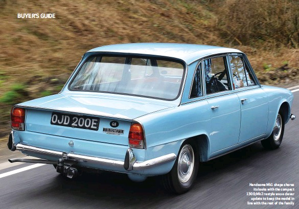 ??  ?? Handsome Mk1 shape shares its looks with the compact 1300; Mk2 restyle was a clever update to keep the model in line with the rest of the family