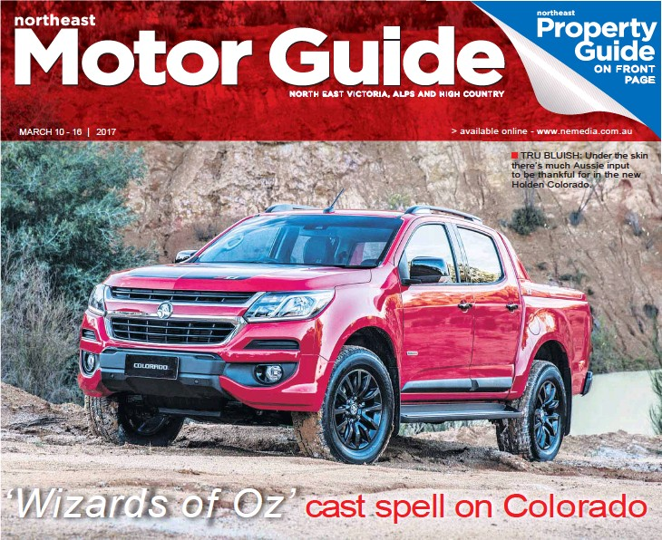 ??  ?? TRU BLUISH: Under the skin there's much Aussie input to be thankful for in the new Holden Colorado.