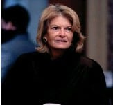 ?? ASSOCIATED PRESS PHOTOGRAPHS ?? Sen. Lisa Murkowski (right) has drawn ire from Alaska Republicans for her vote to convict former President Donald Trump in his second impeachment trial. The state party is considering former Gov. Sarah Palin as a possible challenger.