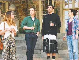 ?? CBC ?? Annie Murphy, left, Noah Reid, Daniel Levy and Emily Hampshire helped Schitt's Creek end on a happy note.