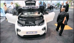 ?? PHOTO: ITUMELENG ENGLISH ?? The BMW i3 is one of the electric cars available in South Africa.