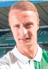 ?? Picture: PA. ?? Leigh Griffiths needs 33 goals to get to the 100-mark for Celtic, and hopes to reach the milestone next season.