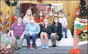 ?? CONTRIBUTED PHOTO ?? Above: The annual Christmas event is organized by the Women of the Moose. Back from left: Linda Martino, WOTM Senior Regent; Lisa Kelly; Chelly Hartge, WOTM Recorder; and Randi Haas. Front from left: Crystal Sipes; Erica Willis; Michelle Barker, WOTM Jr. Regent; and Kayla Sullivan.