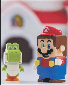 ?? Picture by Shutterstock ?? TOO MUCH Mario and Luigi figures by Lego.