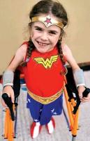 ?? Picture: PA ?? Star...Carmela as Wonder Woman