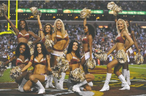 ?? LARRY FRENCH / GETTY IMAGES FILES ?? Former cheerleaders for the Washington NFL club, seen here in 2010, have reached confidential settlements with the team.