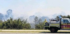 ?? Picture: Christine Curry ?? A fire at Star Swamp bushland.
