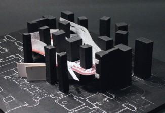 ??  ?? Maquette du Phantôm, restaurant de l'opéra Garnier, à Paris, réalisé par Odile Decq.