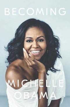?? PENGUIN RANDOM HOUSE ?? Miller Mobley's photo of Michelle Obama for the cover of her memoir.