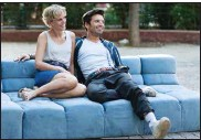 """??  ?? Friday, I'm in love: American ex-pats Chloe (Denise Gough) and Mickey (Sebastian Stan) meet at a disco-thumping house party on a Greek island and stick together for a year in """"Monday."""""""