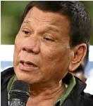 ??  ?? President Duterte