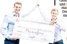 ?? FOTO: HPI/KAY HERSCHELMANN ?? Start-up-Gründer Fabio (l.) und Marcel Schmidberger.