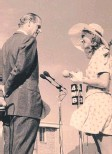 ??  ?? Dot Whittingon receives her award from Prince Philip in Maryborough in 1973.