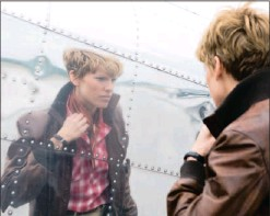 ??  ?? The film Amelia, starring Hilary Swank (above) has reignited interest in aviator fashion (left).