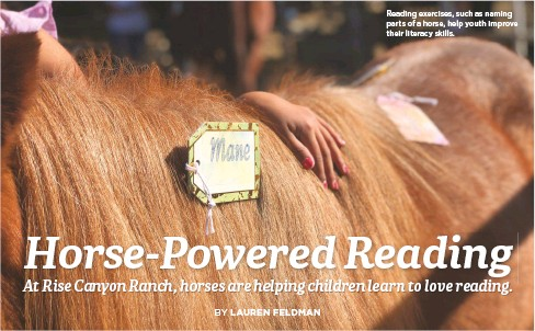 ??  ?? Reading exercises, such as naming parts of a horse, help youth improve their literacy skills.
