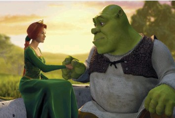 "??  ?? The music for ""Shrek"" informs the characters, particular­ly Princess Fiona, voiced by Cameron Diaz, and the titular ogre, voiced by Mike Myers."