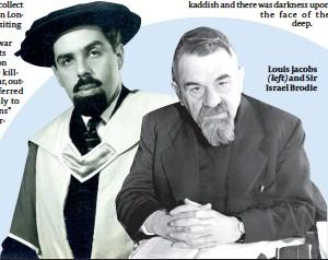 ??  ?? Louis Jacobs (left) and Sir Israel Brodie
