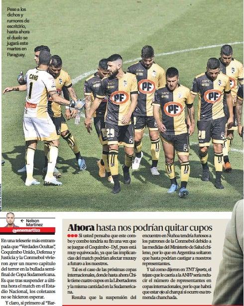 ??  ?? Pese a los dichos y rumores de escritorio, hasta ahora el duelo se jugará este martes en Paraguay.