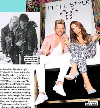 ??  ?? Adam and Binky: Stylish Nitin compares leather jackets with Rita Ora