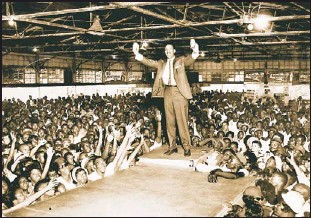 """??  ?? RECLAIMING THEIR HISTORY: Popular Maryland disc jockey Charles """"Hoppy"""" Adams got the crowd going at Carr's Beach, where he introduced many pioneering entertainers at the Chesapeake Bay resort. The beach, opened to give blacks a place of their own..."""