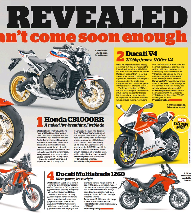 Pressreader Motorcycle News Uk 2017 08 16 1honda Cb1000rr