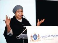??  ?? Qedani Mahlangu became one of the few top political executive casualties when she resigned as Gauteng Health MEC.