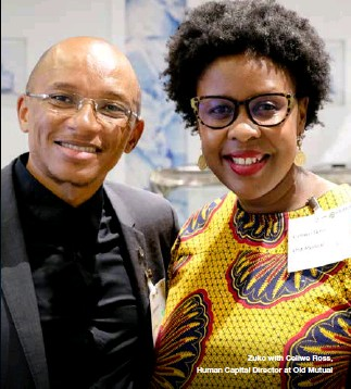??  ?? Zuko with Celiwe Ross, Human Capital Director at Old Mutual