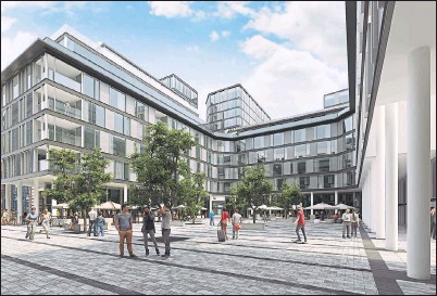 ??  ?? NEW LOOK: This artist's impression of the Candleriggs Quarter reveals what the new development in the Merchant City could look like.