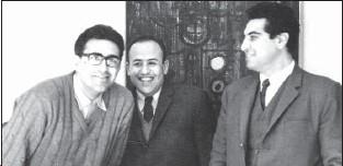 ??  ?? از چپ مسعود عربشاهی ،صادق تبريزی و کريم امامی