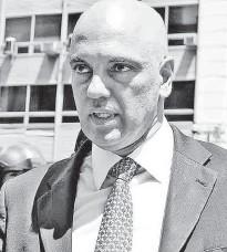 ?? Mateus Reppucci/Futura Press/Folhapress ?? Secretário de Segurança, Alexandre de Moraes é vaiado por manifestantes no protesto na Paulista