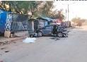 ?? FOTO: EL HERALDO ?? Los Cuatro Carros quedaron Con daños Considerables.