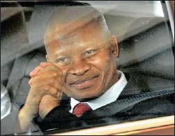?? Picture: NEIL BAYNES ?? Mogoeng Mogoeng… on the way to his interview for the post of chief justice. There are clear reservations about his appointment.