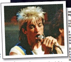 ??  ?? HEYDAY: Limahl was a big star in the 1980s