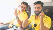 ?? TWITTER/@CHENNAIIPL ■ ?? Ready to dazzle: Shardul Thakur and Ravindra Jadeja will hope to deliver for Chennai Super Kings.