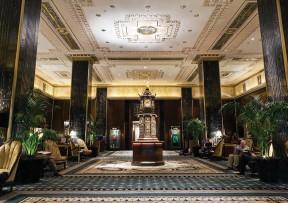 ??  ?? BELOW: Landmarked by the city, The Waldorf Astoria, main lobby