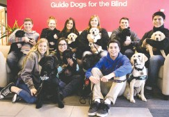 ?? KAREN WOON/ASSOCIATED PRESS ?? Marybeth Hearn, who recently retired as a teacher from Lemoore High School in California, has inspired dozens of students to train guide dogs.