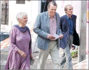 ?? — FOX ?? From left: Judi Dench, Tom Wilkinson and Bill Nighy are three British actors who regularly lend their dramatic heft to Hollywood blockbusters.